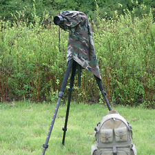 Large Rain Cover for DSLR Cameras & Telephoto Lenses. Camouflage. Viewing Window