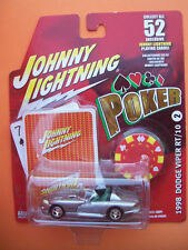 JOHNNY LIGHTNING POKER 1998 DODGE VIPER RT/10/FUZZY GREEN SEATS/CARDS/POKER CHIP