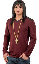 Men's Men Steel Iced HipHop Cross Necklace Chain 18K Gold Filled Jesus Pendant