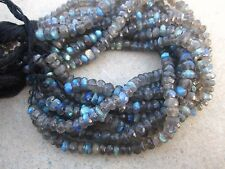 """8"""" Superb Fire LABRADORITE Faceted loose Gemstone Rondelle beads 5.5 to 6.5 MM"""
