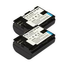 2 Fully Decoded Battery Pack for Canon LPE6 LP-E6 EOS 5D Mark II 60D DSRL Camera