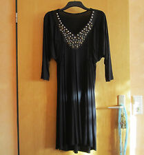 PHILOSOPHY BLUES ORIGINAL Kleid Gr.L NEU Tunika Schwarz Nieten