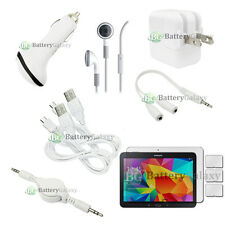 """10 pcs Bundle Kit White USB Cable+Charger+Headset for Samsung Galaxy Tab 4 10.1"""""""