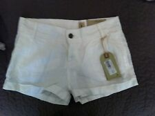 NEW ALL SAINTS WHITE LINEN DEVON CUFFED SHORTS SIZE 6