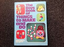 The Boys Book of Things to Make And Do vintage hardcover 1973 children's Craft