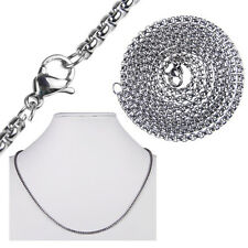 """MEN'S 2MM Silver 20"""" Stainless Steel Pearl Box Chain Necklace Fashion Pendant 1X"""