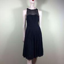 BCBG MAX AZRIA Kleid schwarz Chiffon Seide Gr. M 38 Tanzkleid Party Ausgehen