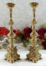 Kerzenleuchter Messing Kirchenleuchter Kerzenständer Kerzenhalter gold Deko Neu