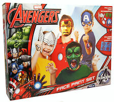 MARVEL AVENGERS HULK IRON MAN+ FACE PAINT & MASK SET HALLOWEEN FANCY DRESS 60203