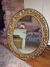 Gold Mirror Ornate Wall Mirror Oval Mirror Vintage Antique  Mirror Ornate Frame