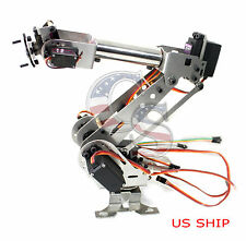 Fully Assembled 6 Axis Mechanical Robotic Arm Clamp for Arduino, Raspberry mor