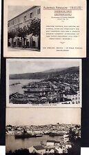 110734 3 AK Trieste Triest 1939 Hafen Pension Albergo Viale Regina Pasquini Foto