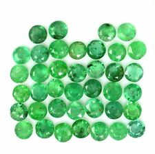 NATURAL COLOMBIAN GREEN EMERALD LOOSE GEMSTONES (1 piece) ROUND CUT ( 5.6 mm)