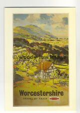ap2998 - BR - Worcestershire, Valley with Village Scene   - Postcard