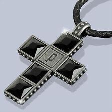 POLICE Leder Halskette THOR Herren Kette Edelstahl Schmuck NEU PJ24653PLE/01