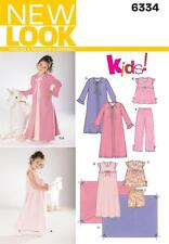 NEW LOOK SEWING PATTERN Childs Nightgown, Pajamas, Robe & Blanket 3 - 8 6334