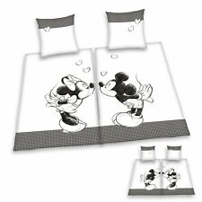 Herding Partner Bettwäsche Mickey + Minnie Mouse, Doppelpack 135x200cm Renforce