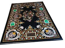 4'x2' Marble Dining Coffee Table Top Rare Inlay Gem Pietradure Marquetry Decor