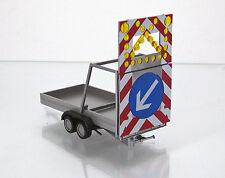 Herpa 052368 Verkehrssicherungsanghänger silbergrau