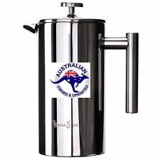 1000ml COFFEE PLUNGER FRENCH PRESS,DOUBLE WALL STAINLESS STEEL