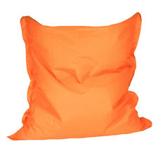 Orange Bean Bag Cover Polyester 140X120cm When Filled Outdoor/Indoor