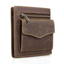 Vintage Genuine Cowhide Leather Mens Wallet Card Holder Coin Bifold Pocket Pouch