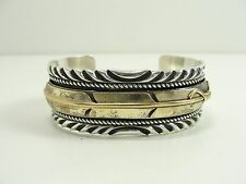 MARK YAZZIE NAVAJO ARMREIF ARMBAND STERLING SILBER SILVER BANGLE INDIAN CUFF