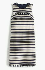 J.CREW STRIPED SCALLOPED DRESS WITH GROMMENTS/Size:4 /STORE PRICE $138.00
