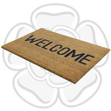 JVL Heavy Duty Welcome PVC Backed Coir Entrance Door Mat Outdoor 33.5 x 60cm
