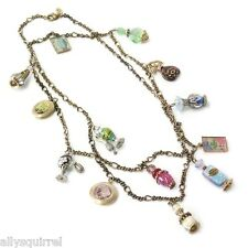 "NEW SWEET ROMANCE VINTAGE STYLE FRENCH PERFUME BOTTLES 44"" CHARM NECKLACE"