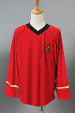 Star Trek The Original Series Velvet Scotty Red Shirt Uniform Costume