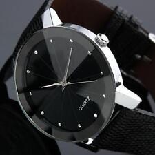 Armbanduhr Damenuhr schwarz Strass Analog Damen Mädchen PU-Leder Uhr Neu Glitzer