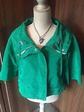 **ZARA** Green Cropped 3/4 Sleeve Lined Jacket UK Medium