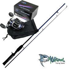 Baitcaster Rod & Reel Combo 1.7 meter rod, Bait Caster, great for kayak fishing