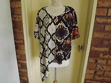 Charlie Brown Asymmetrical Animal Print Top sz 8 (oversized)