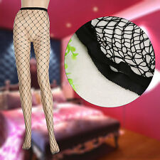 UK Fishnet Tights Nude Black Full Footed Stockings Dance Performance Costumes