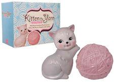 Kitten + Yarn Porcelain Salt & Pepper Shaker Set ~ Kitsch Kawaii Cute Cats Kitty