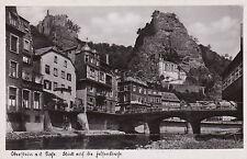 AK Idar-Oberstein Nahe Felsenkirche Kirche Brücke 1952 Ortsansicht