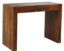 SOLID SHEESHAM WOOD LARGE TELEPHONE HALL LAMP CONSOLE TABLE