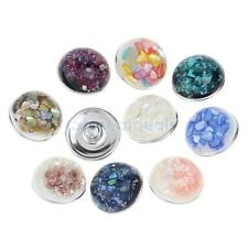 10Pcs 18mm Charm Snap Button Charms For Noosa Style bracelet Rings Jewelry