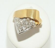 Damenring -V-  Bicolor 18ct. Gold Weißgold Diamant Ring