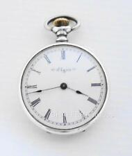 Beautiful ELGIN Silver Hunter Pocket Watch 1900 with Keystone case -WORKING