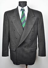 HUGO BOSS Double Breasted THICK WOOL Al Capone Blazer UK 42 Coat Jacket EUR 52