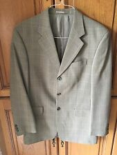 MEN'S SIZE 38R AUSTIN REED 100% WOOL KHAKI CHECK JACKET/BLAZER RRP £150