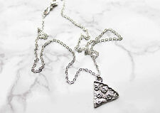 1 x Pizza slice silver food friendship necklace. Boho/vintage/grunge jewellery