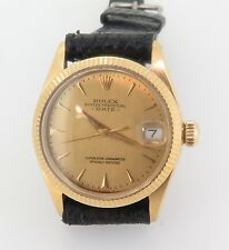 VINTAGE ROLEX 1949 OYSTER DATE MID SIZE 18K GOLD WATCH REF 6627 NO RESERVE