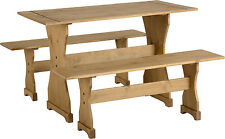 CORONA DINETTE DINING SET IN DISTRESSED WAXED PINE - FREE NEXT DAY DELIVERY