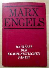 Manifest der Kommunistischen Partei-vom Dietz Verlag Berlin 1973- als DDR Buch