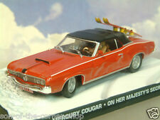DIECAST 1/43 JAMES BOND 007 MERCURY COUGAR ON HER MAJESTY'S SECRET SERVICE RED