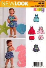 New Look Pattern 6385 Babies Playsuit, Top and Pants